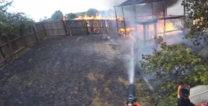 Герой наших дней: мотоциклист стал пожарным-добровольцем