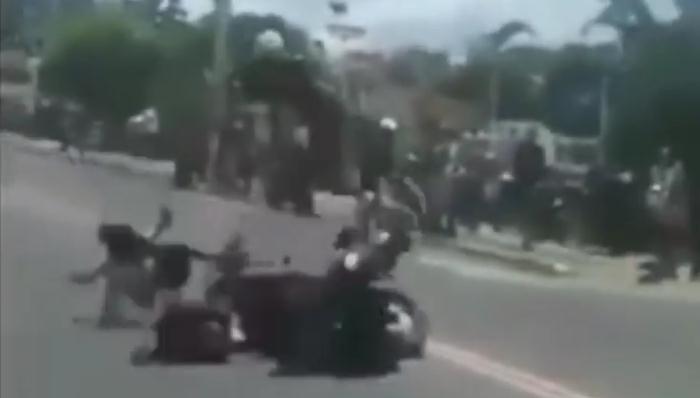 Невероятная авария в Мексике!