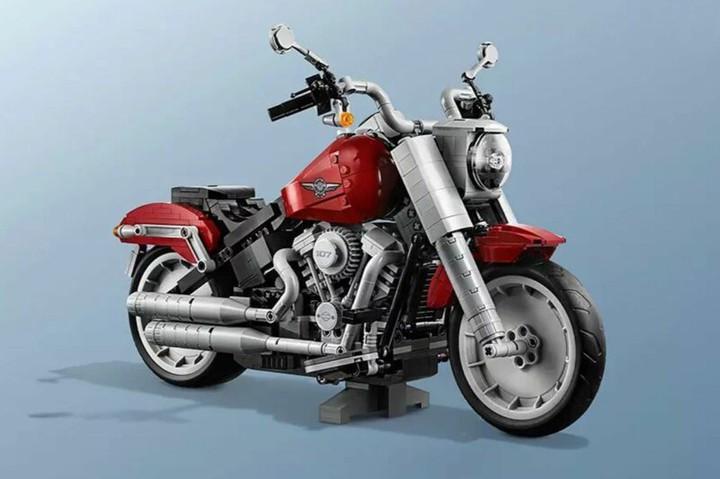 Harley-Davidson Fat Boy из кубиков Lego