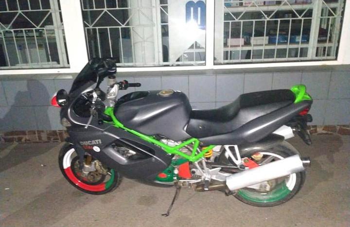 Мотоциклист помог найти преступника