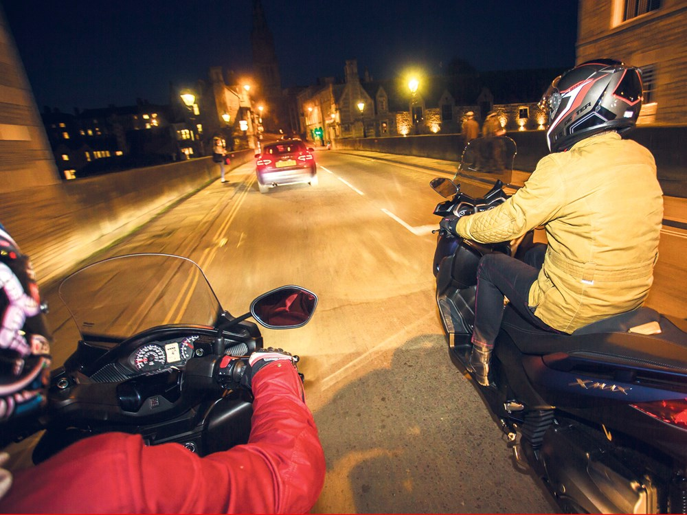 How to ride a motorbike at night